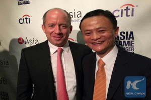 Duncan Clark and Alibaba's Group's founder and chairman Ma Yun, also known as Jack Ma. (Credit: Duncan Clark)