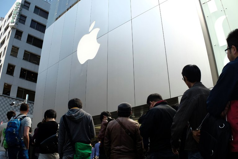 Customers lining up outside an Apple store in Tokyo. The Trans-Pacific Partnership would have set new terms and standards for trade for the United States and 11 other Pacific Rim nations, including Japan. Credit Kazuhiro Nogi/Agence France-Presse — Getty Images