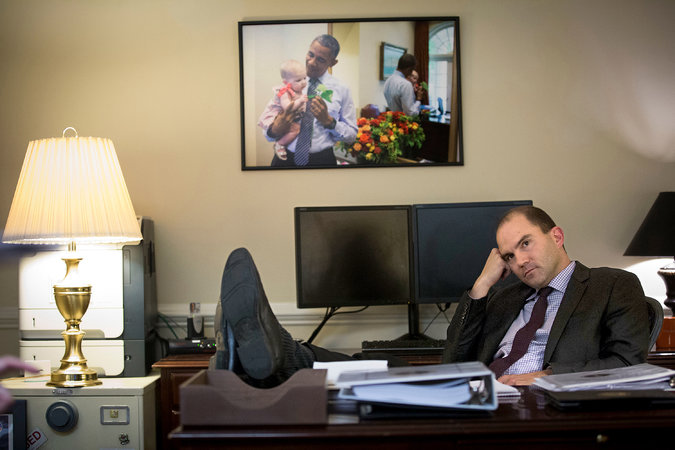 Rhodes in his White House office. Credit Doug Mills/The New York Times